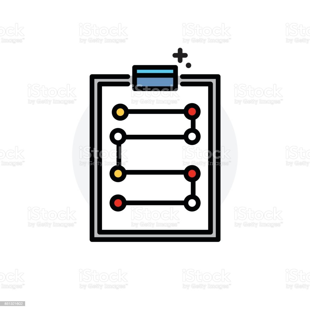Workflow chart concept Isolated Line Vector Illustration editable Icon vector art illustration