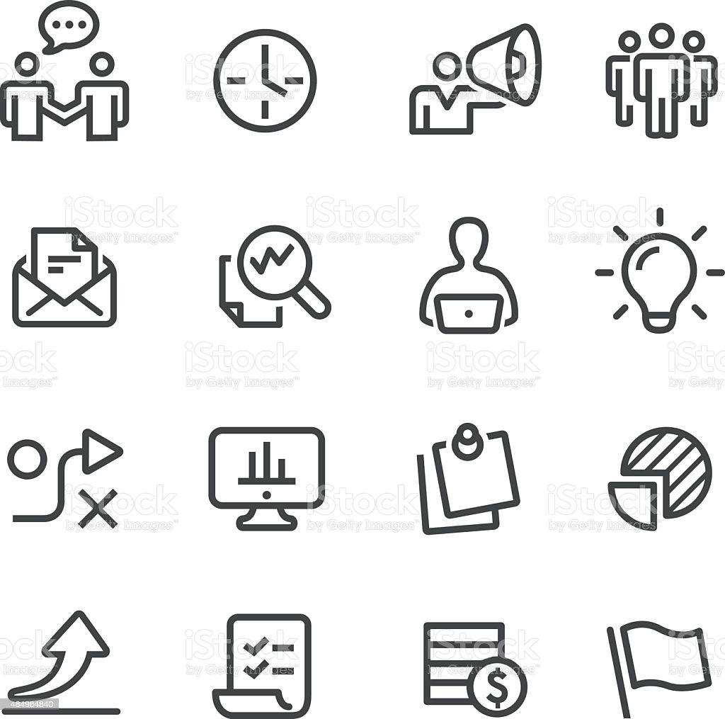 Workflow Icons - Line Series vector art illustration
