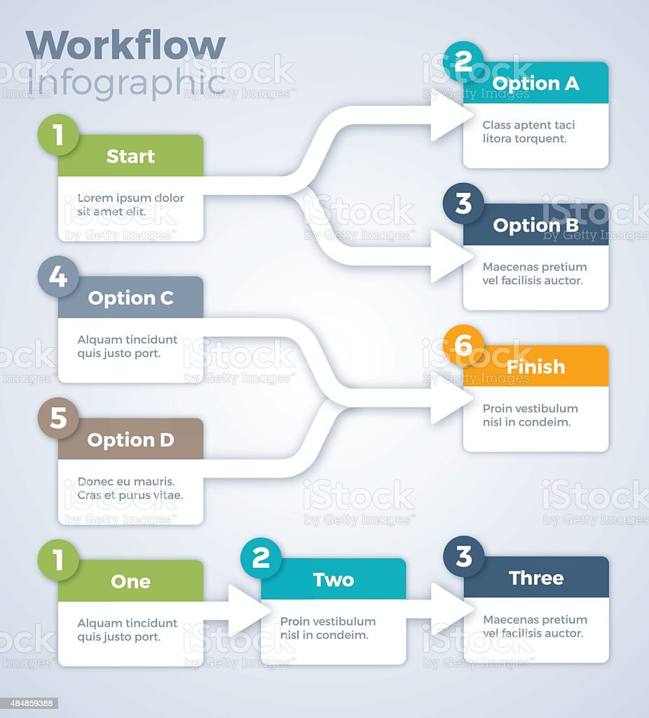 Workflow Infographic vector art illustration