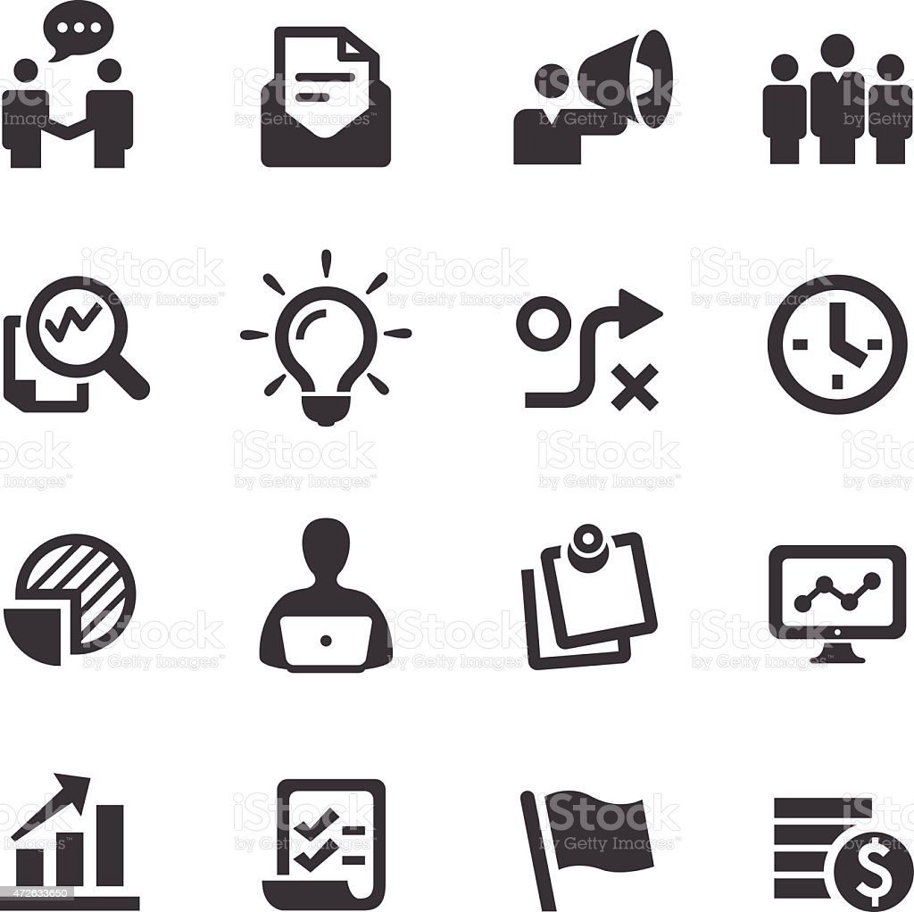 Workflow Management Icon - Acme Series vector art illustration
