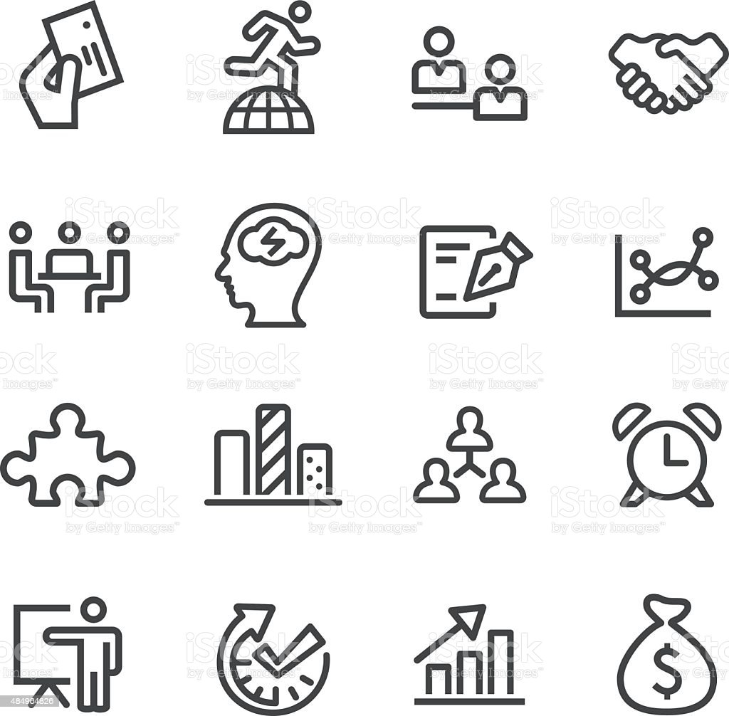 Workflow Management Icons - Line Series vector art illustration