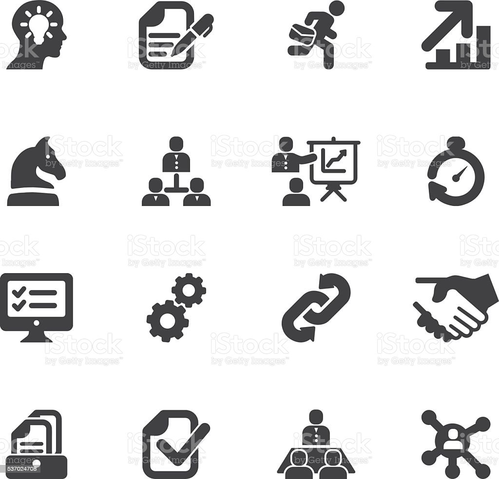 Workflow Silhouette icons | EPS10 vector art illustration