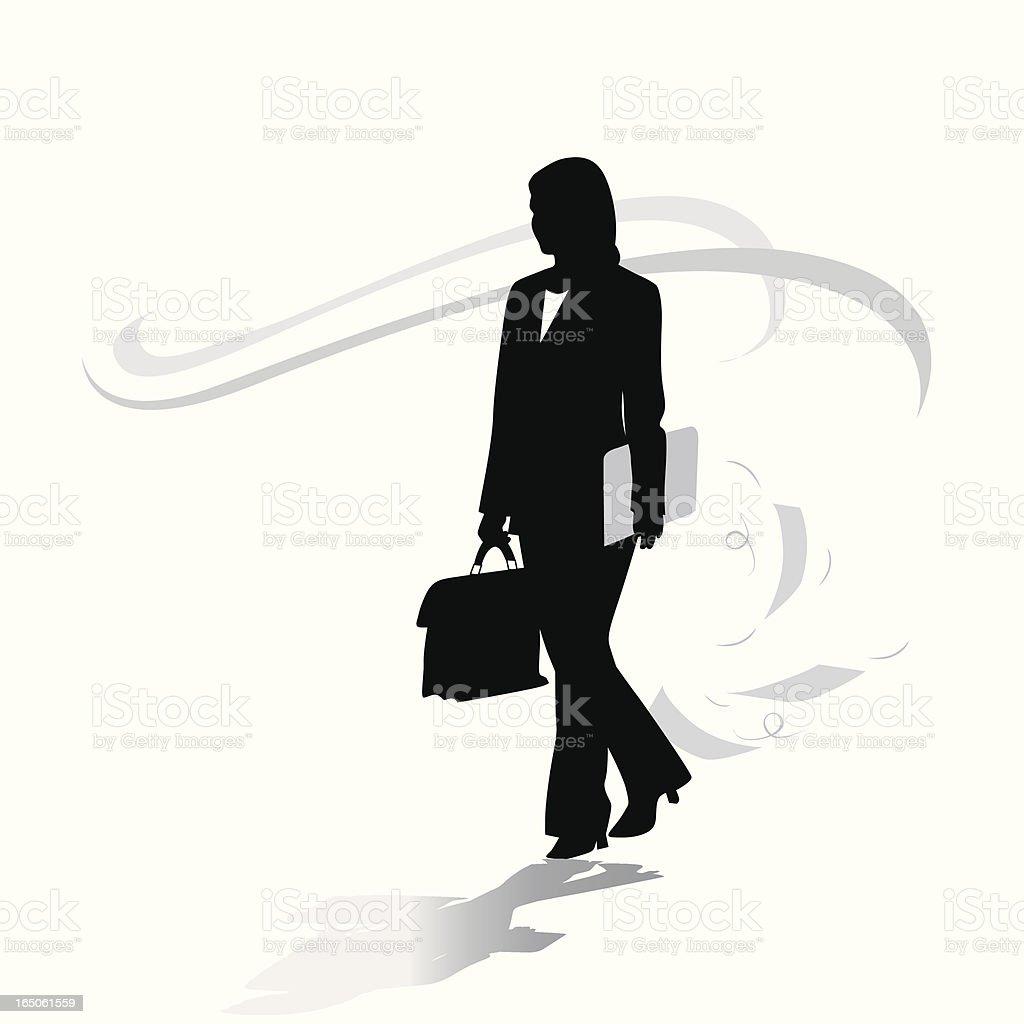 WorkFlow Vector Silhouette Vector vector art illustration