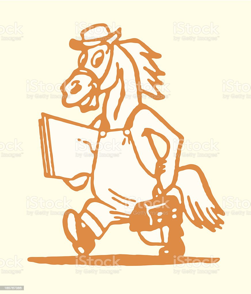 Workhorse with Lunch  Box royalty-free stock vector art