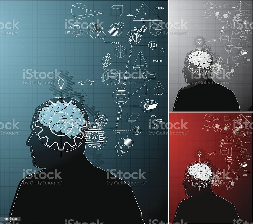Working Brain royalty-free stock vector art