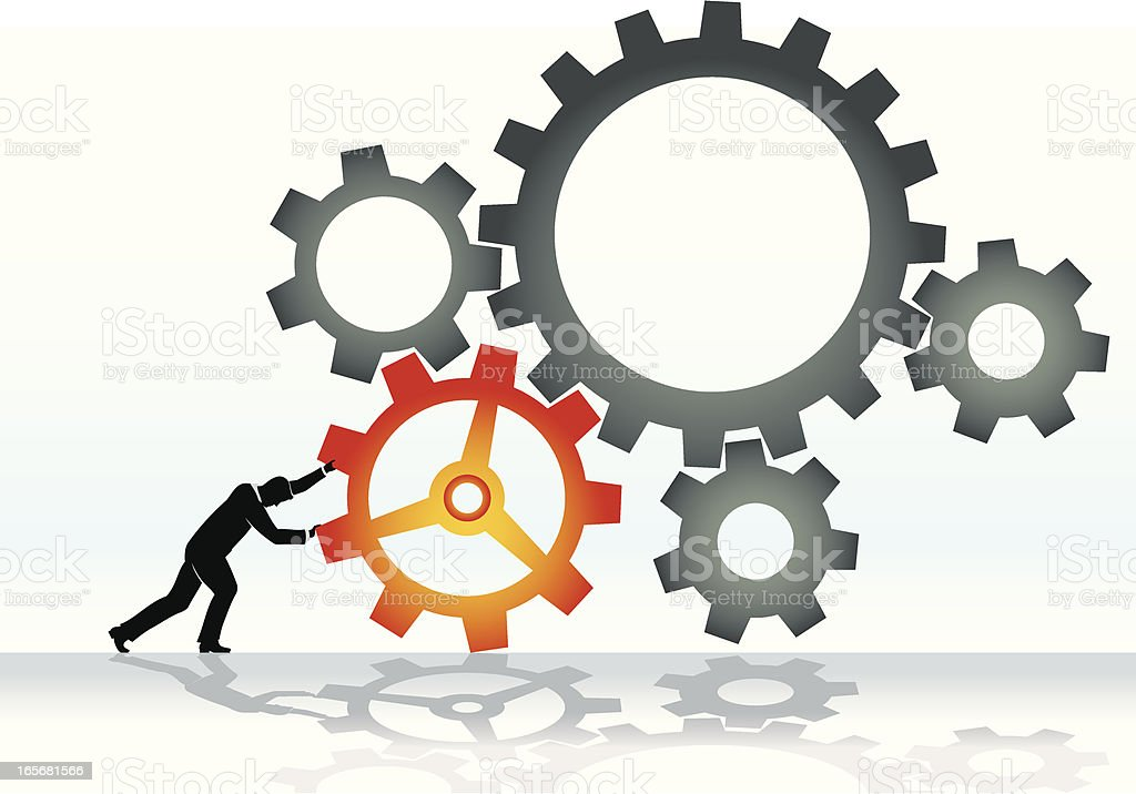 Working Cogs royalty-free stock vector art