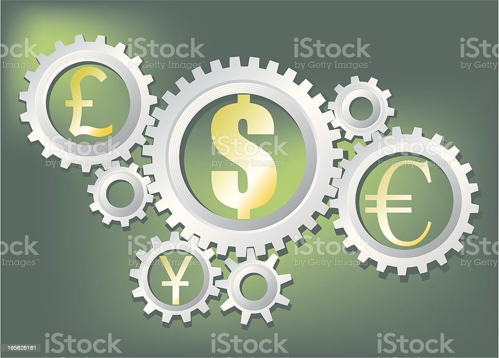 Working Currency royalty-free stock vector art