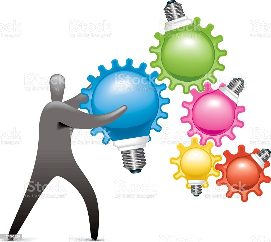 Working Ideas royalty-free stock vector art
