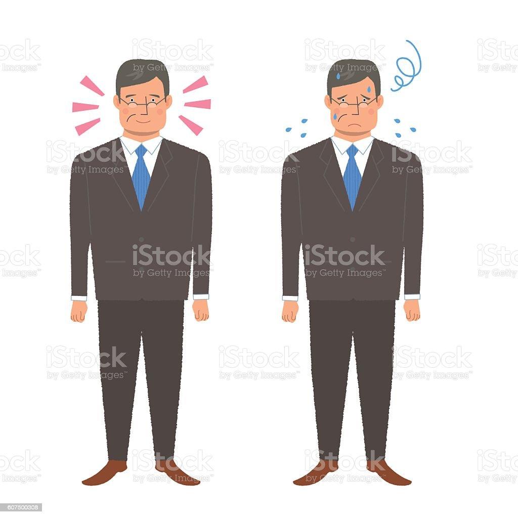 Working men vector art illustration