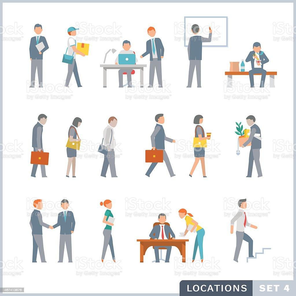 Working people. Office. vector art illustration