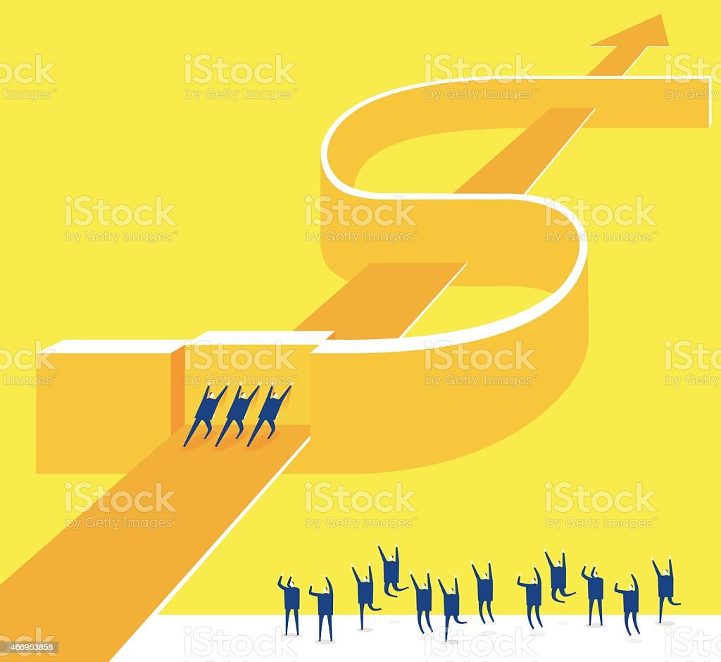Working together successful vector art illustration
