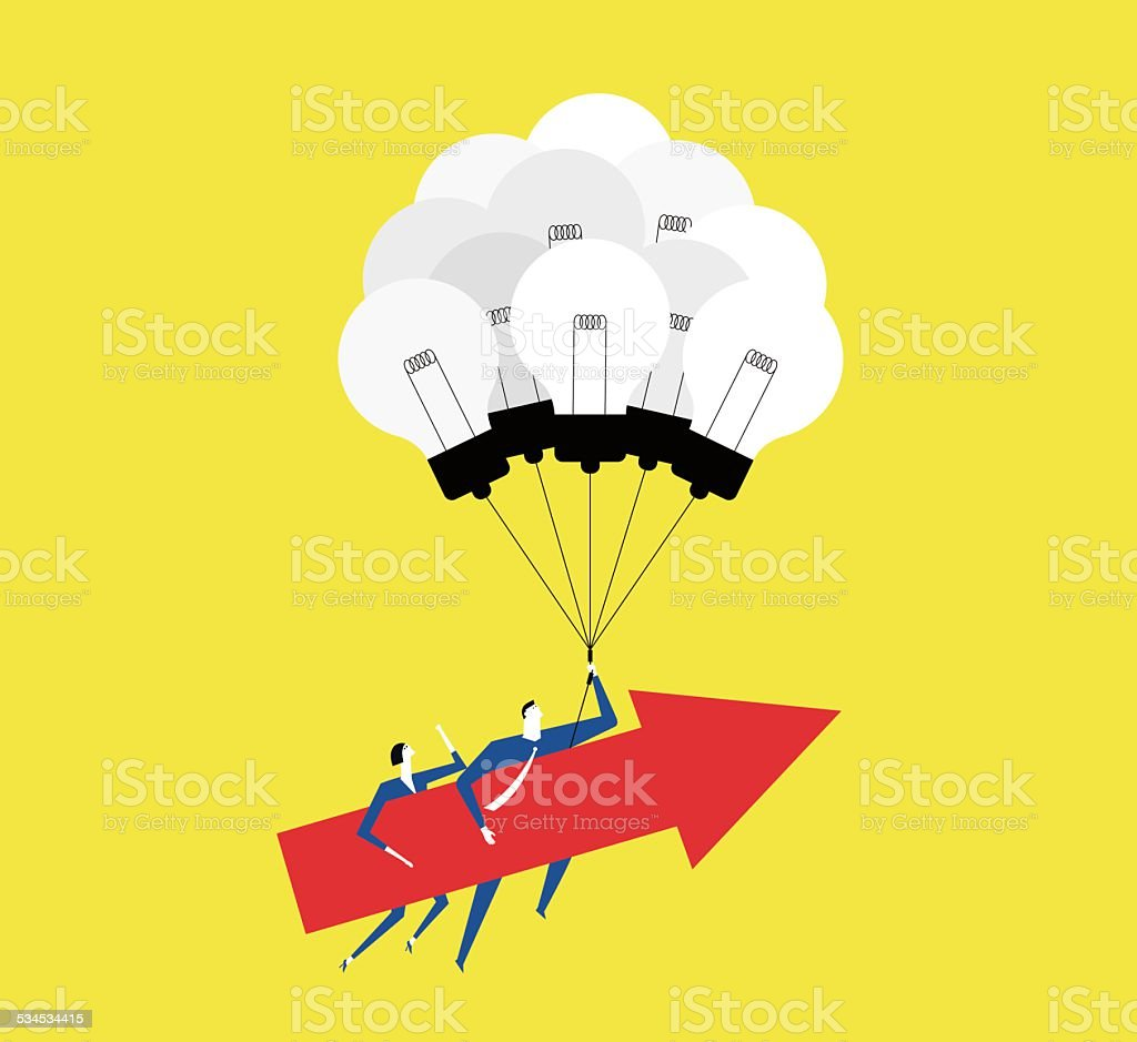 Working together,creating ideas make us grow up. vector art illustration