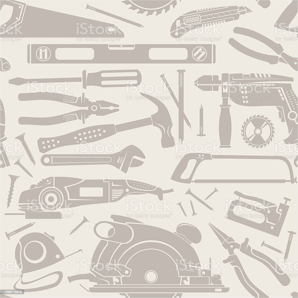 Working tools seamless background royalty-free stock vector art