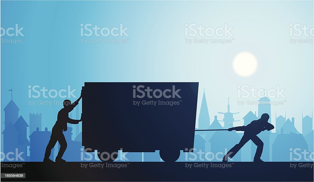 Working royalty-free stock vector art