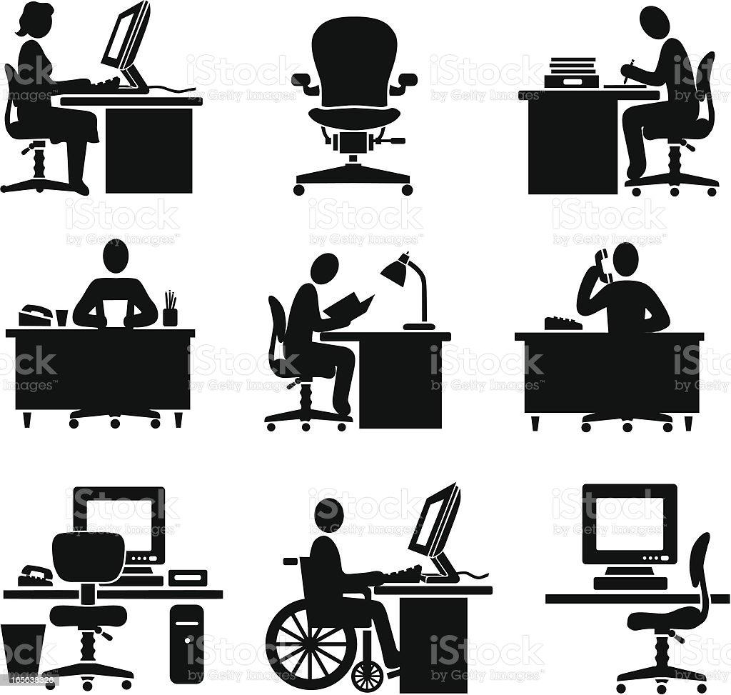 working vector art illustration