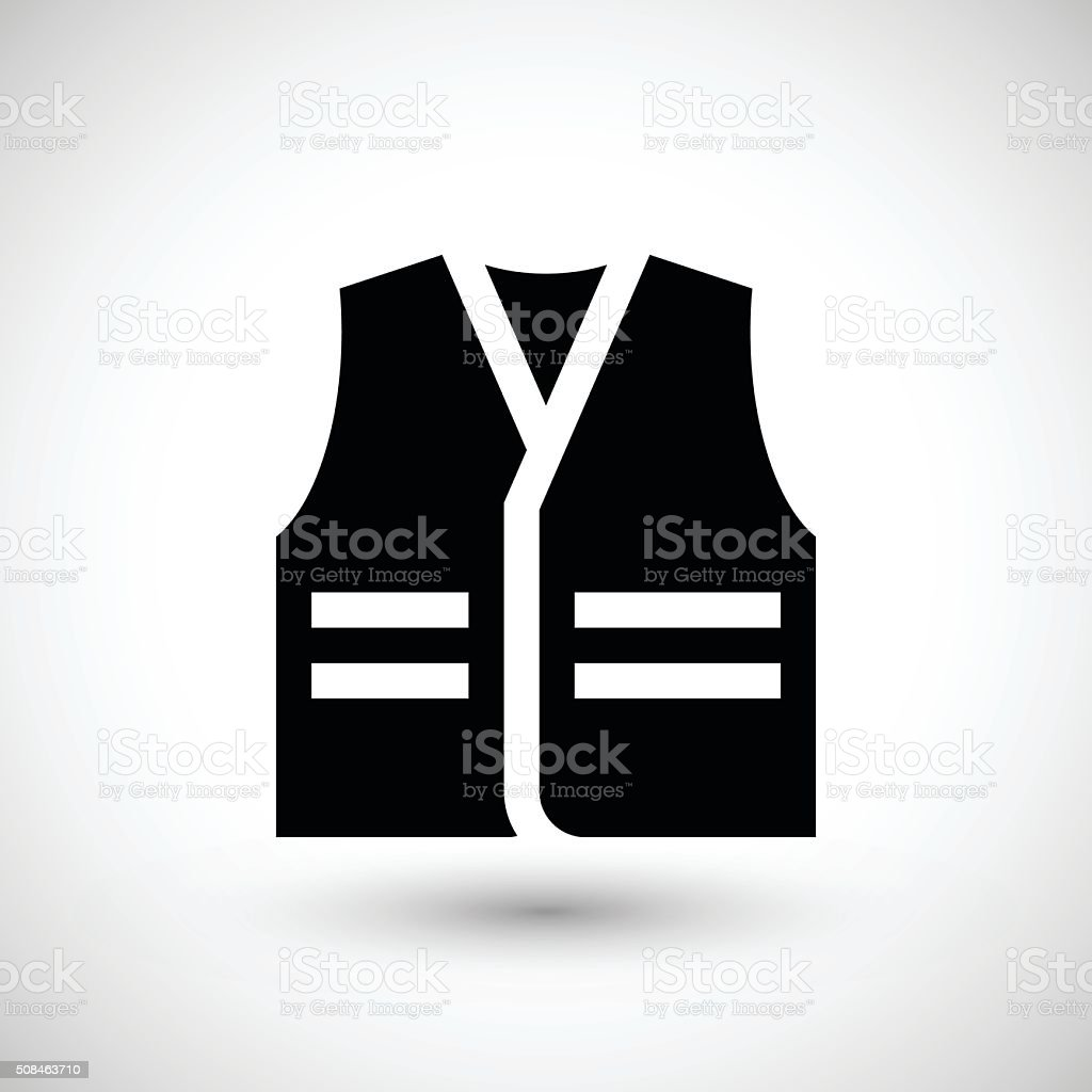 Working vest icon vector art illustration