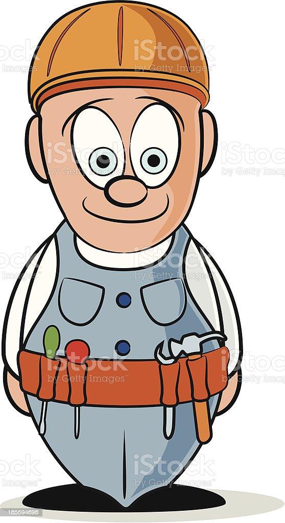 Workman Cartoon royalty-free stock vector art
