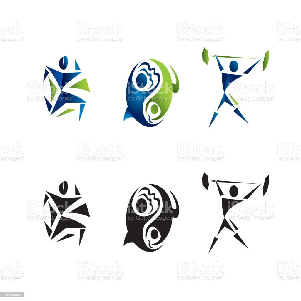 workout fitness logos royalty-free stock vector art