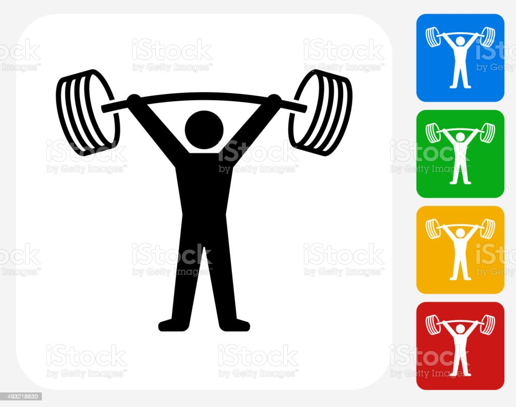 Workout Icon Flat Graphic Design vector art illustration