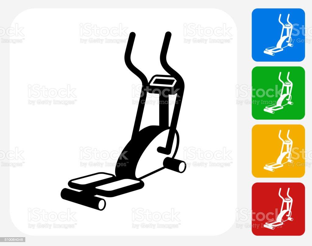 Workout Machine Icon Flat Graphic Design vector art illustration