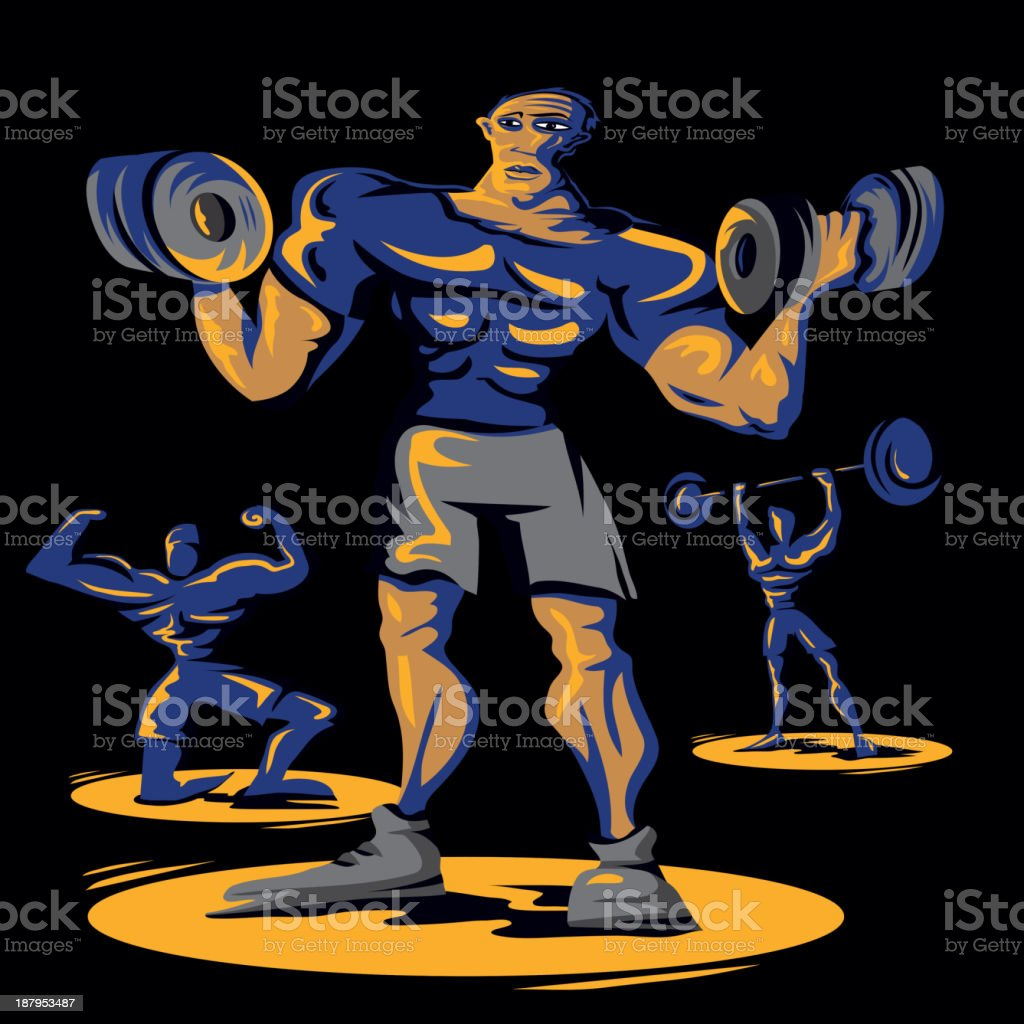 workout show royalty-free stock vector art