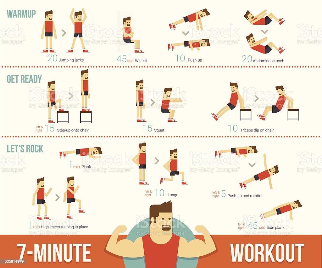 Workout vector art illustration