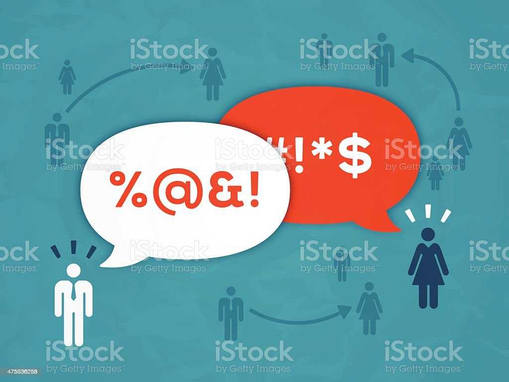 Workplace Communication and Gossip vector art illustration