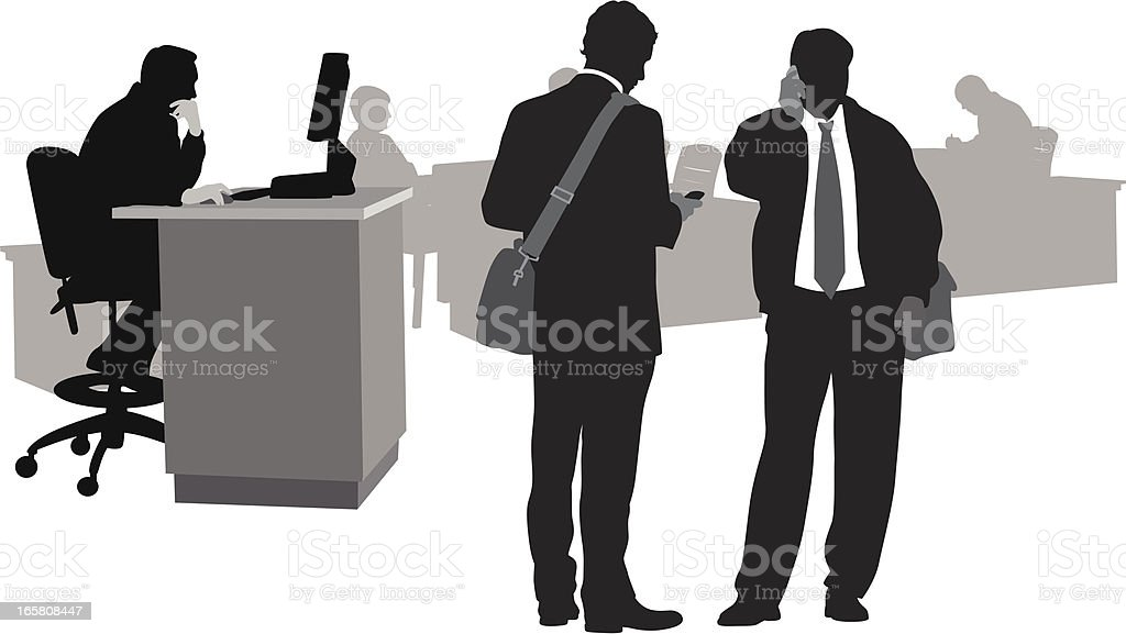 Workplace Tech Vector Silhouette royalty-free stock vector art