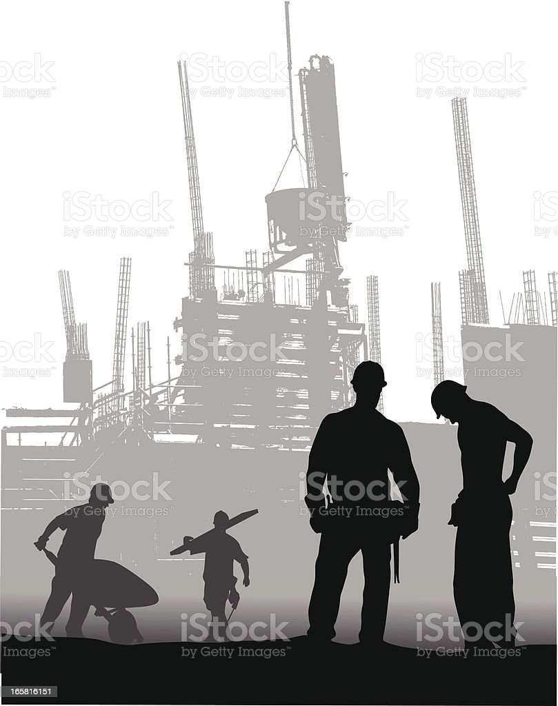 Workplaces Vector Silhouette royalty-free stock vector art