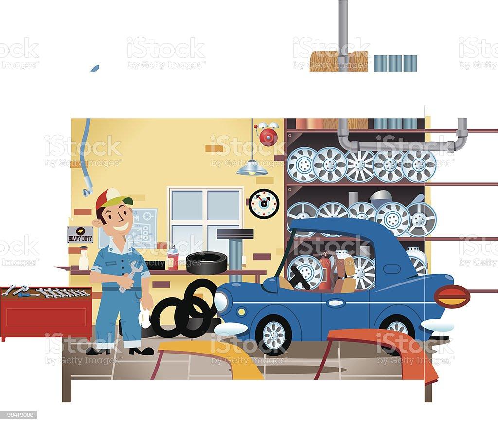 Workshop Mechanic royalty-free stock vector art