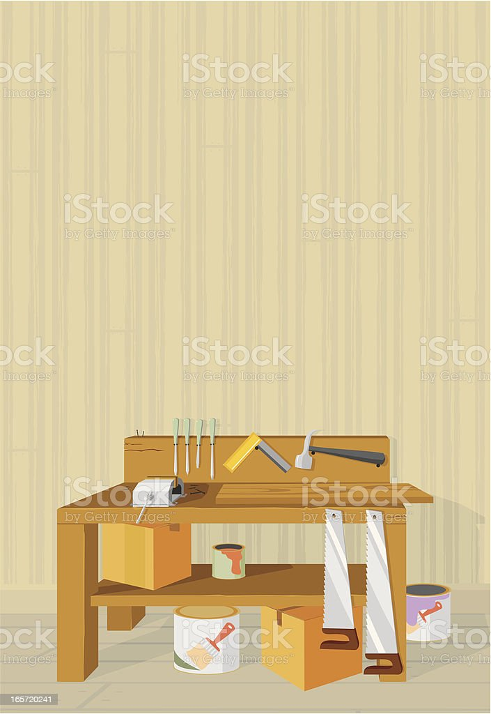 Workshop With Copy Space vector art illustration