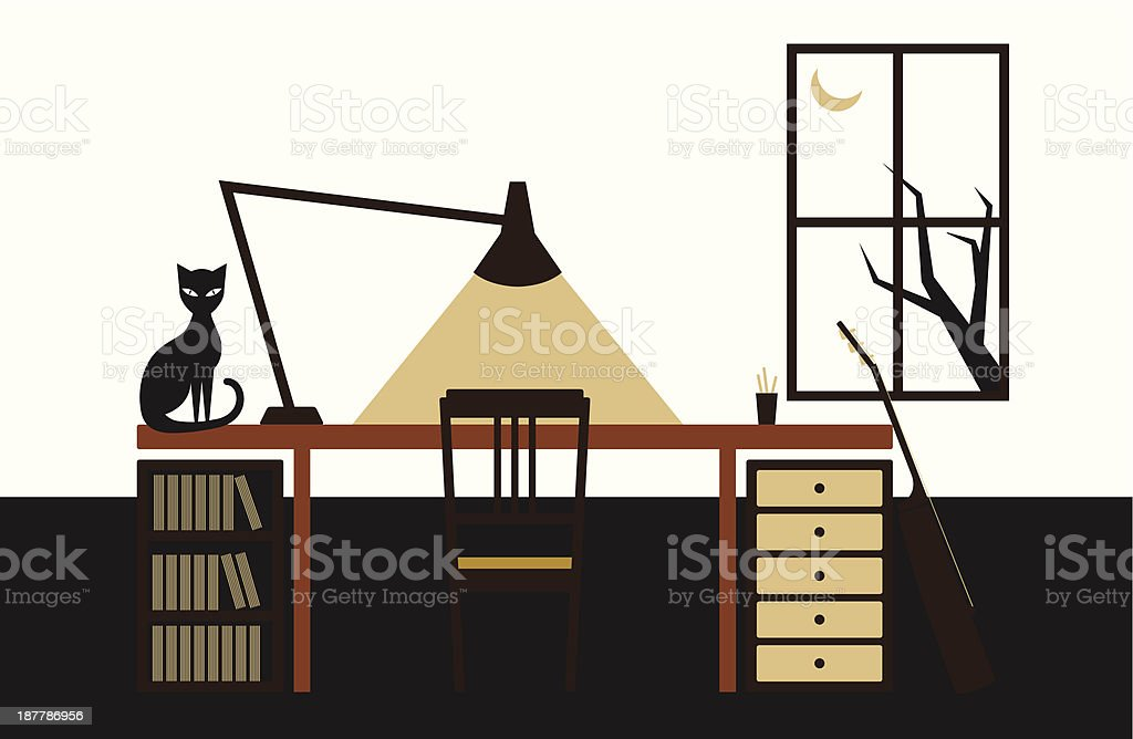 Workspace royalty-free stock vector art