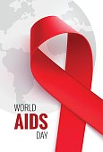 World aids day - 1 December. Aids awareness background