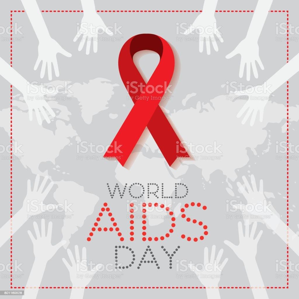 World AIDS Day. 1st December World Aids Day poster. Vector illustration vector art illustration