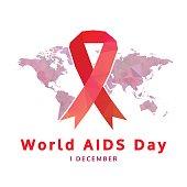 world aids day concept, 1 December. aids awareness
