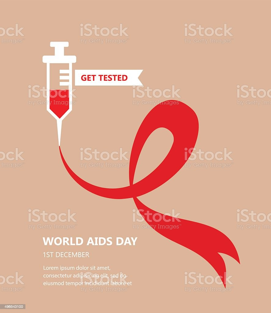 world AIDS day. get tested concept vector art illustration