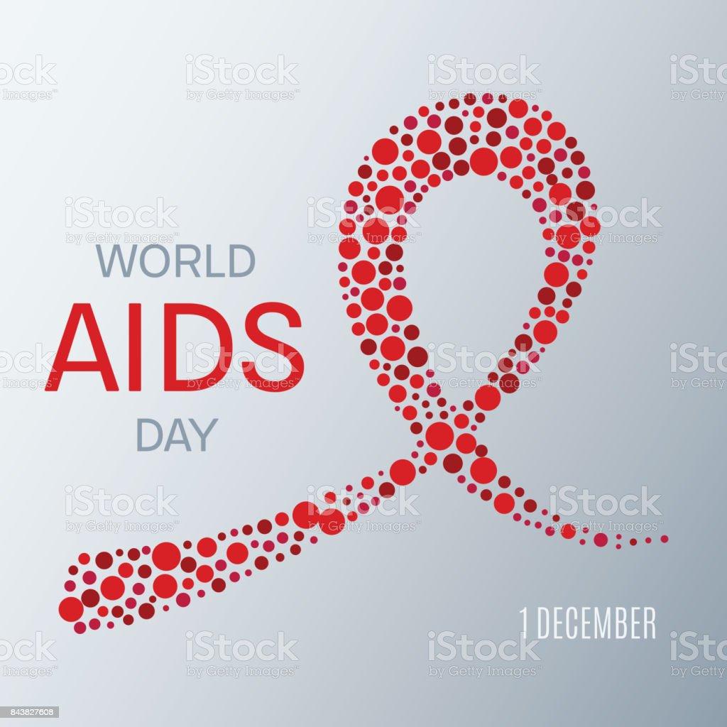 World AIDS Day Poster vector art illustration