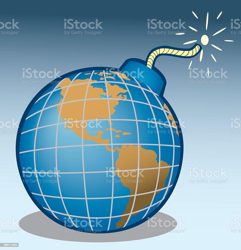 World As A Bomb royalty-free stock vector art