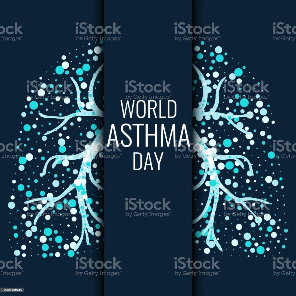 World Asthma Day poster vector art illustration