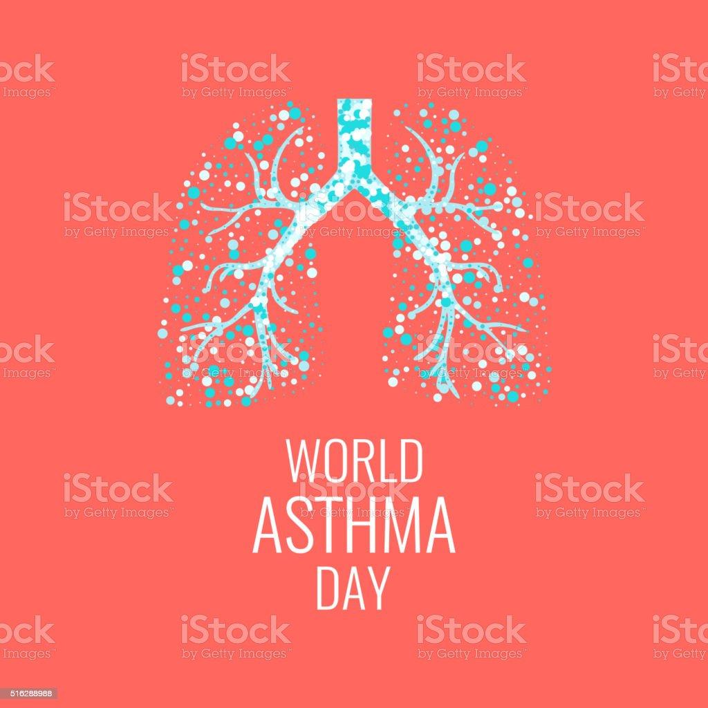 World Asthma Day vector art illustration