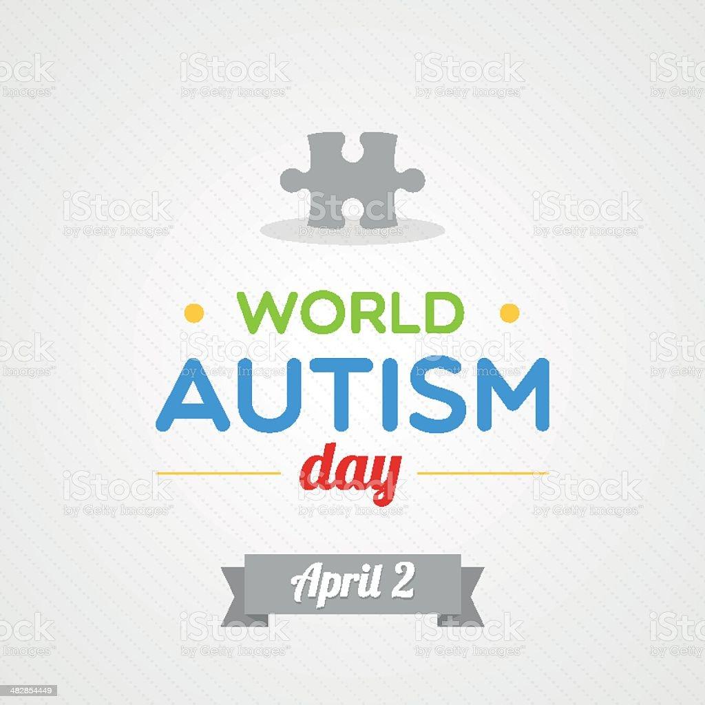 World Autism Day vector art illustration