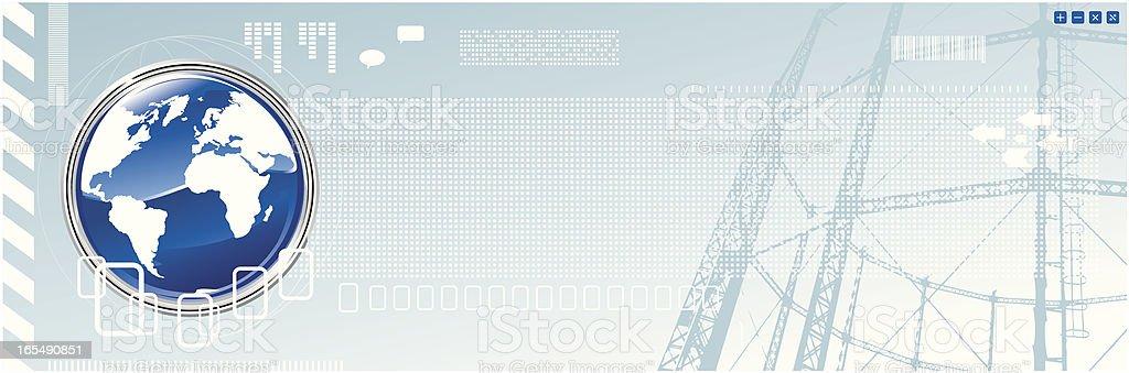 World banner royalty-free stock vector art