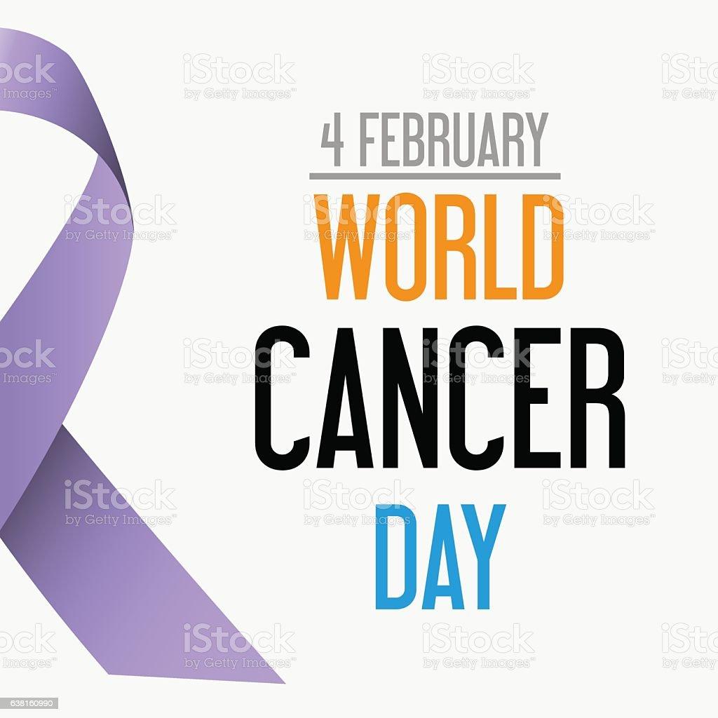 world cancer day celebration of cancer awareness eps10 vector art illustration