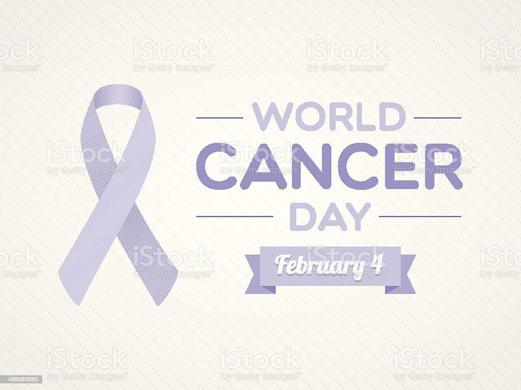 World Cancer Day vector art illustration