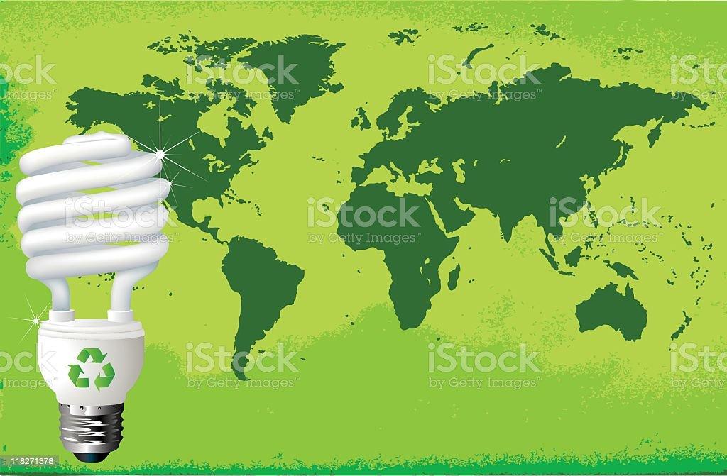 World CFL Light vector art illustration