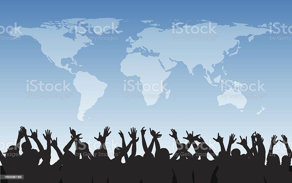 World Cheering royalty-free stock vector art
