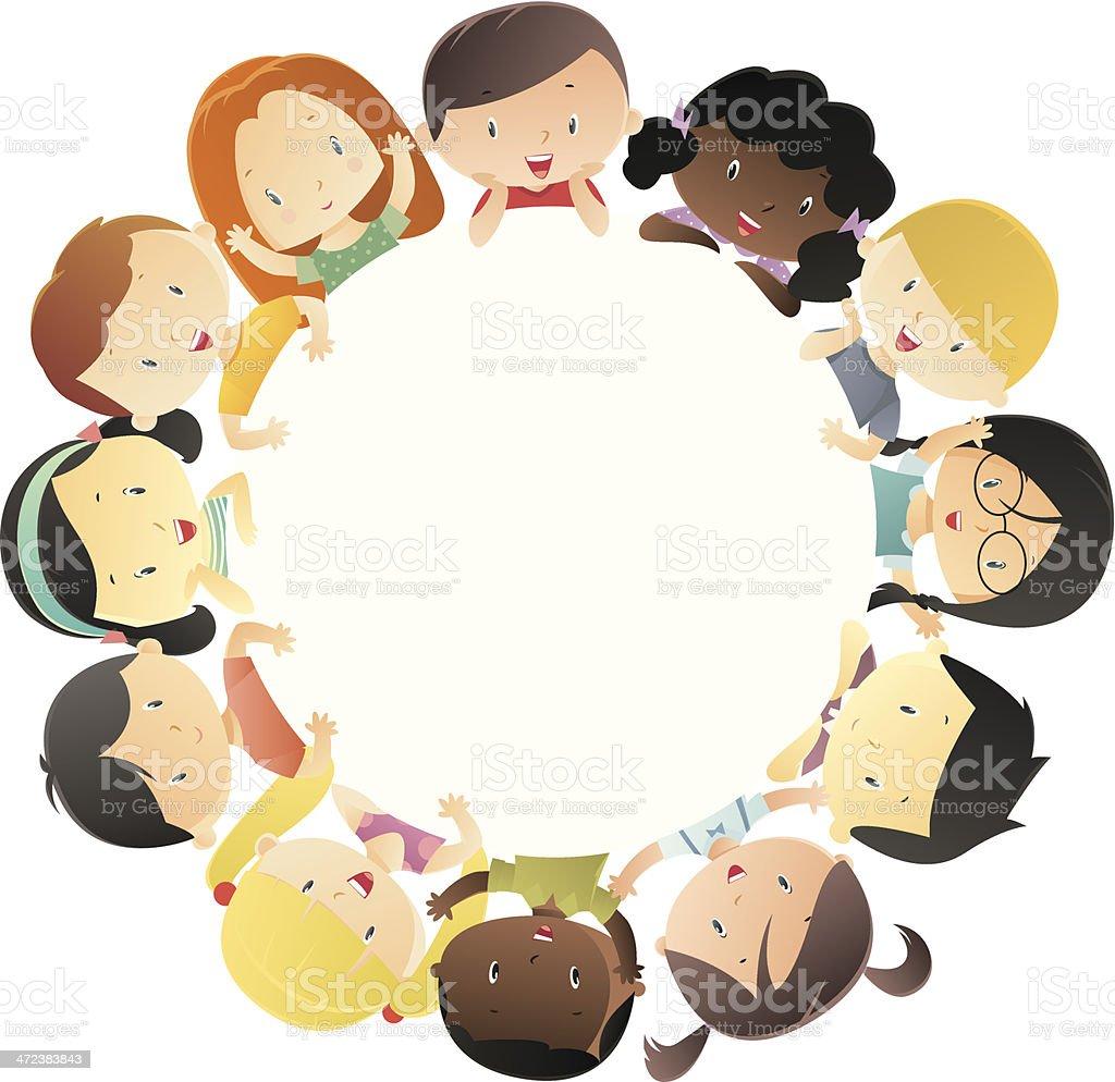 World Children vector art illustration