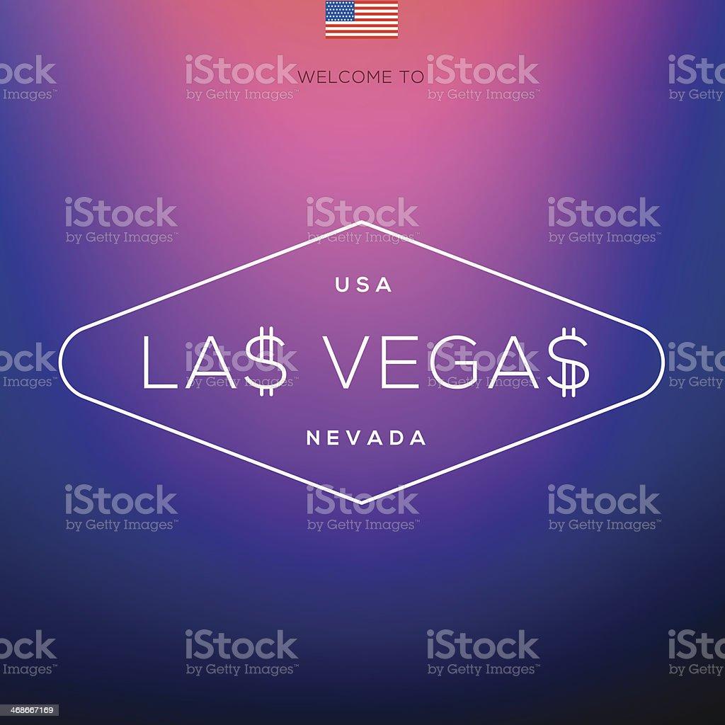 World Cities labels - Las Vegas. vector art illustration