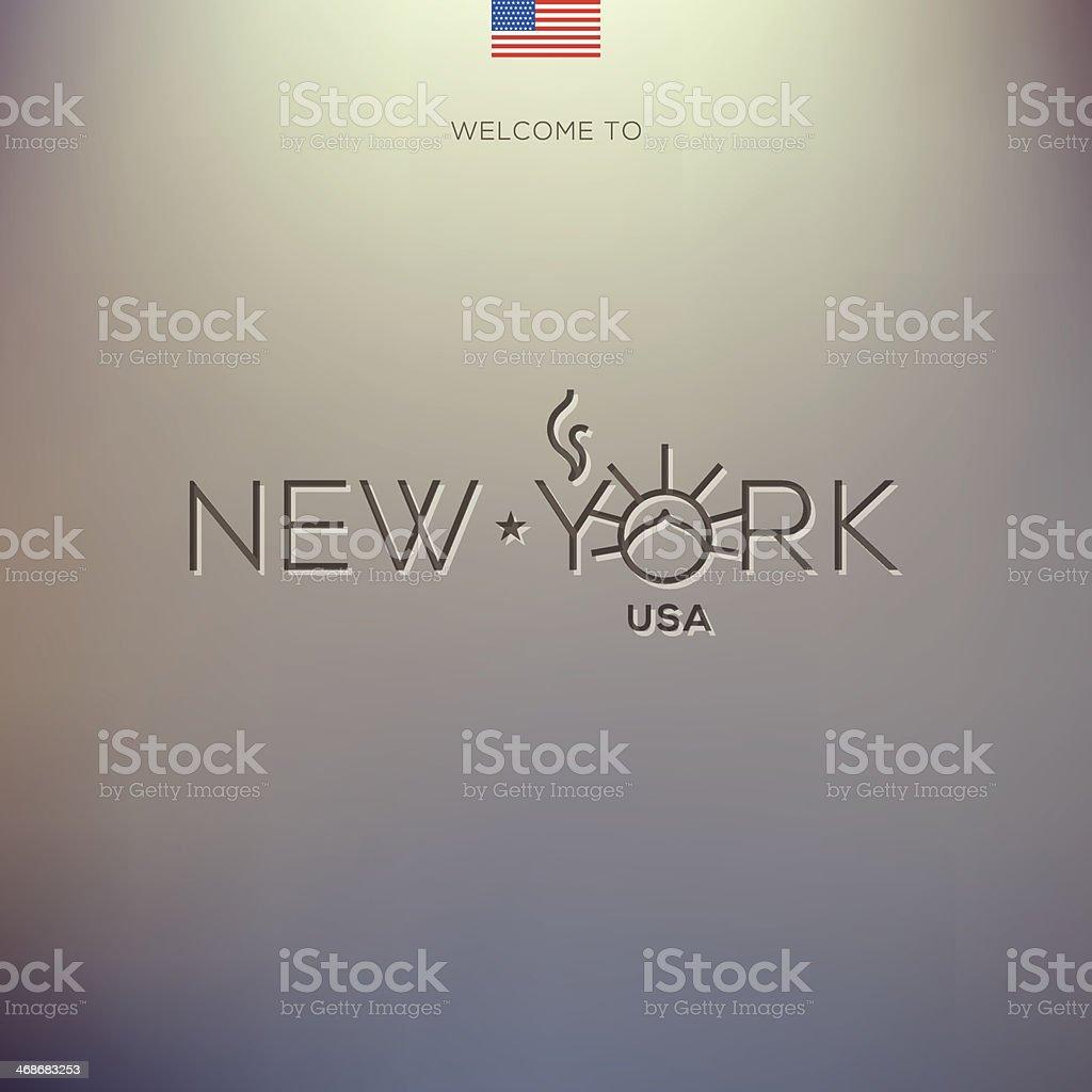 World Cities labels - New York. vector art illustration