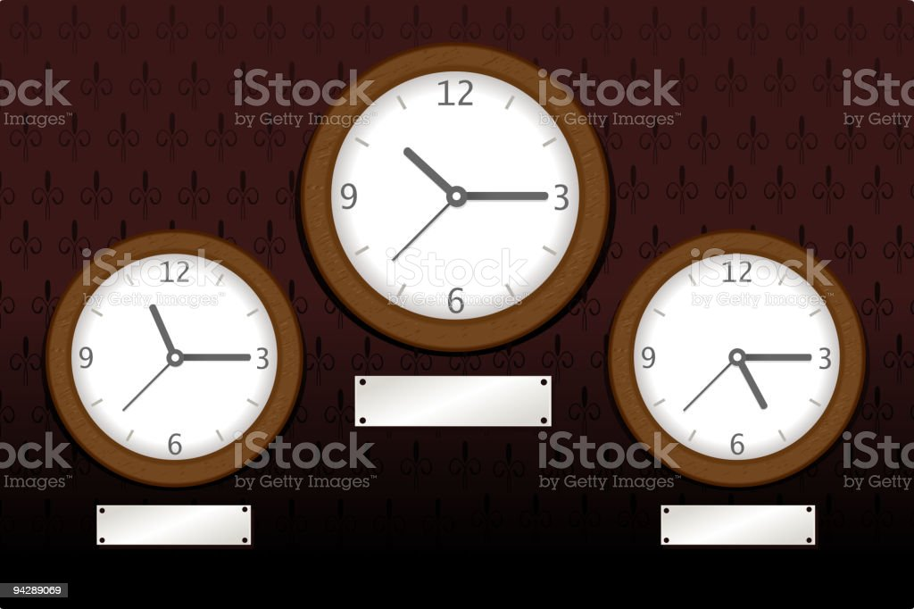World Clock vector art illustration